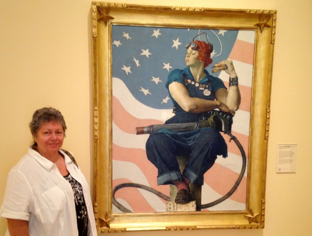 THE reason for todays visit - Rosie the Riveter!